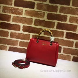 Gucci Exclusive Bamboo Shopper Mini Top Handle Bag Red 368823