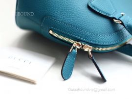 Gucci Women Bag Leather Bag Mini Dome Handbag Leather Blue 449661