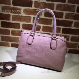Gucci Interlocking G Leather Hand Bag Pink 308362