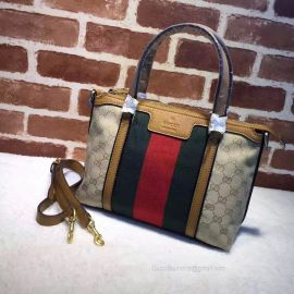 Gucci  Rania Original GG Canvas Top Handle Khaki Bag 353114