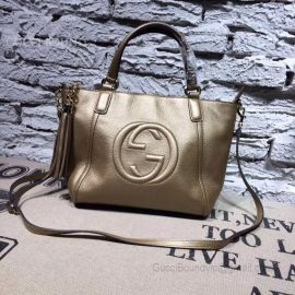 Gucci Soho Leather 2Way Bag Hand Bag Gold 369176