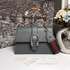 Gucci Dionysus Medium Top Handle Bag Gray 448075