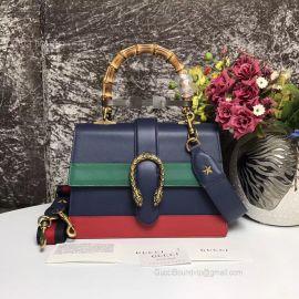 Gucci Dionysus Medium Top Handle Bag Dark Blue 448075