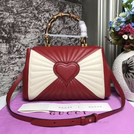 Gucci Queen Margaret Medium Top Handle Bag Red And White 476531