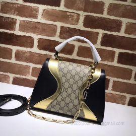 Gucci Osiride Small GG Top Handle Bag Yellow 497996