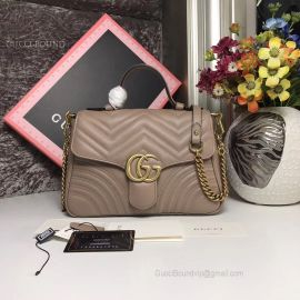 Gucci GG Marmont Small Top Handle Bag Nude 498110