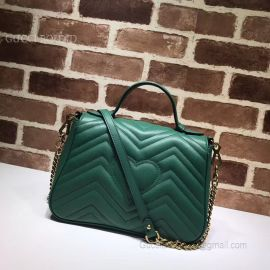 Gucci GG Marmont Small Top Handle Bag Green 498110