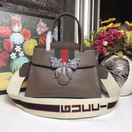Gucci Totem Medium Top Handle Bag Brown 505344