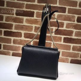 Gucci GG Leather Top Handle Bag Black 510302