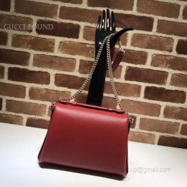 Gucci GG Leather Top Handle Bag Red 510302
