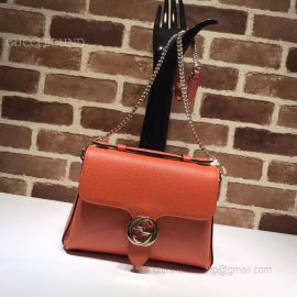 Gucci GG Leather Top Handle Bag Red Brick 510302