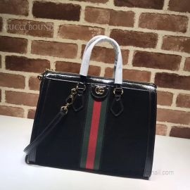 Gucci Ophidia Medium Top Handle Bag Black 524537