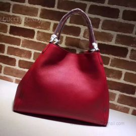 Gucci Soho Leather Hobo Bag Dark Red 282308