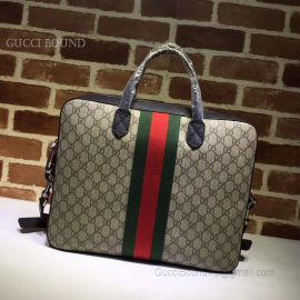 Gucci Web GG Supreme Briefcase Khaki 387102