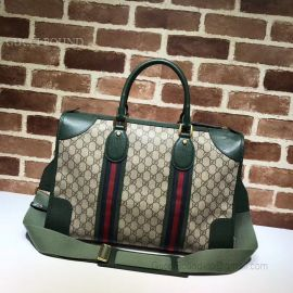 Gucci Courrier Soft GG Supreme Duffle Bag Green 459311
