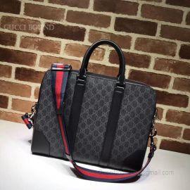 Gucci GG Supreme Briefcase Dark Gray 474135