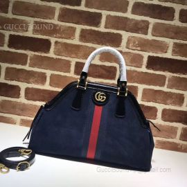 Gucci ReBelle Medium Top Handle Bag Dark Blue 516459
