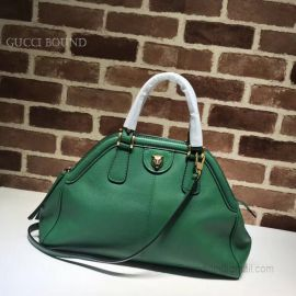 Gucci ReBelle Medium Top Handle Bag Dark Green 516459