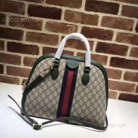 Gucci Ophidia GG Medium Top Handle Bag Green 524533