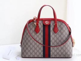 Gucci Ophidia GG Medium Top Handle Bag Red 524533