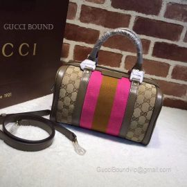 Gucci Vintage Web Original GG Boston Bag Pink 269876