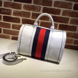 Gucci Vintage Web Original GG Boston Bag Bluish Violet And Red 247205