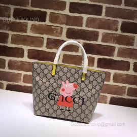 Gucci Children GG Kitten Friends Tote Pink Peppa Pig 410812