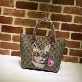 Gucci Children GG Kitten Friends Tote Cat And Flower 410812