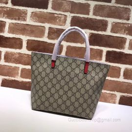 Gucci Childred GG Supreme Bow Tote Dark Blue 457232
