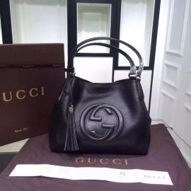 Gucci Soho Leather Tote Black 282309