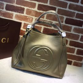 Gucci Soho Leather Tote Gold 282309