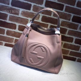 Gucci Soho Leather Tote Nude 282309