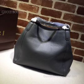 Gucci Soho Leather Tote Dark Gray 282309