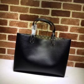Gucci Reversible GG Blooms Medium Tote Black 368568
