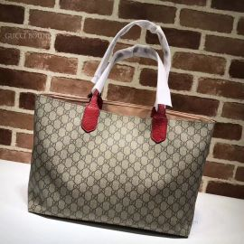 Gucci Tian GG Medium Tote Red 412096