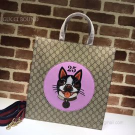 Gucci Pattern Print Soft GG Supreme Toteviolet Dog 450950