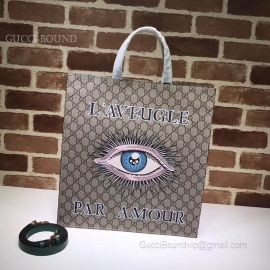 Gucci Pattern Print Soft GG Supreme Tote Eye 450950