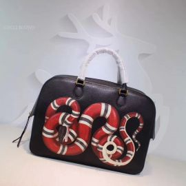 Gucci Kingsnake Print Tote Bag Black 450999