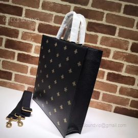 Gucci Bee Star Leather Tote 495444