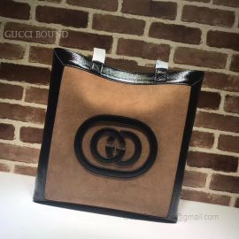 Gucci Ophidia Suede Large Tote GG Coffee 519335