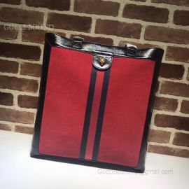 Gucci Ophidia Suede Large Tote Red 519335