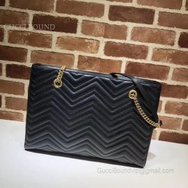 Gucci GG Marmont Matelasse Medium Tote Black 524578