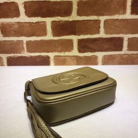 Gucci Soho Leather Chain Shoulder Bag Military Green 323190