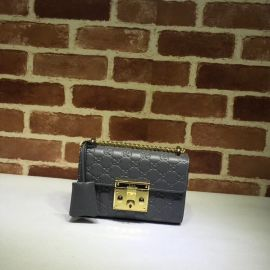 Gucci Padlock Small Gucci Signature Shoulder Bag Gray 409487