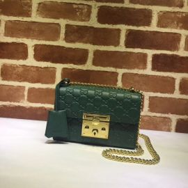 Gucci Padlock Small Gucci Signature Shoulder Bag Green 409487
