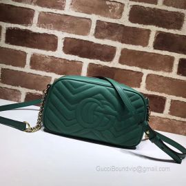 Gucci GG Marmont Small Matelasse Shoulder Bag Green 447632