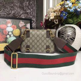 Gucci Guccitotem Web GG Supreme Messenger Bag Brown 489617