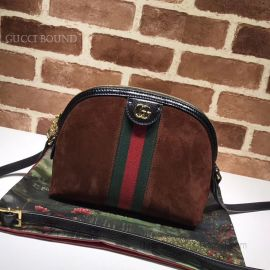 Gucci Ophidia Small Shoulder Bag Coffee 499621