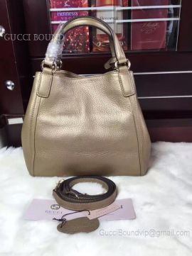 Gucci Shoulder With Crossbody Strap Tabasco Leather Satchel Bronze 336751