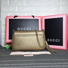 Gucci Soho Leather Chain Shoulder Bag Bronze 336752
